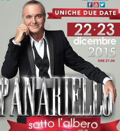 """""""PANARIELLO SOTTO L'ALBERO – LO SHOW TV"""" IL 22 E 23 DICEMBRE IN PRIMA SERATA SU RAI 1"""