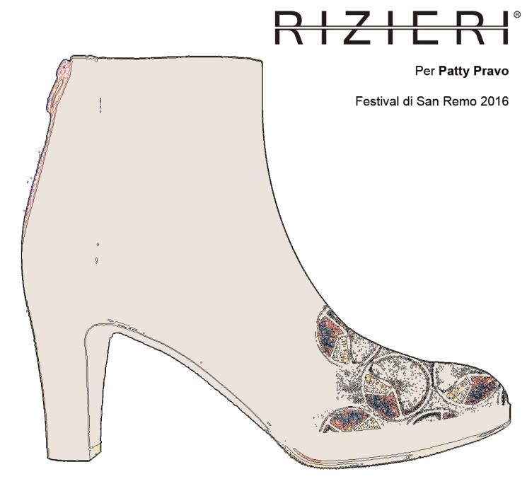 A Sanremo 2016 Patty Pravo indossa scarpe Rizieri