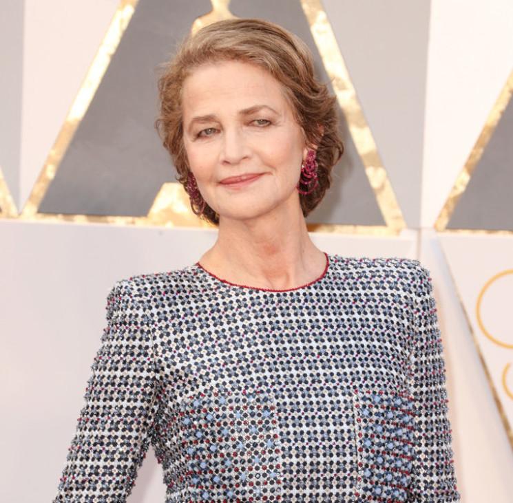 Charlotte Rampling in de GRISOGONO alla notte degli Oscar 2016