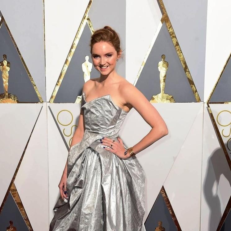 Notte degli Oscar 2016: Lily Cole in Vivienne Westwood
