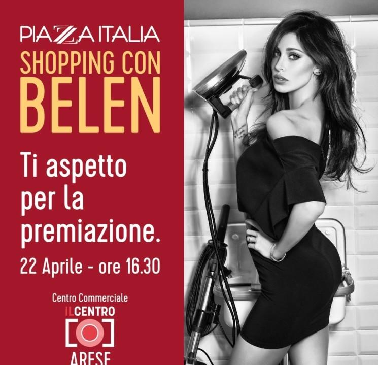 Belen Rodriguez ospite di Piazza Italia nel nuovo store di Arese