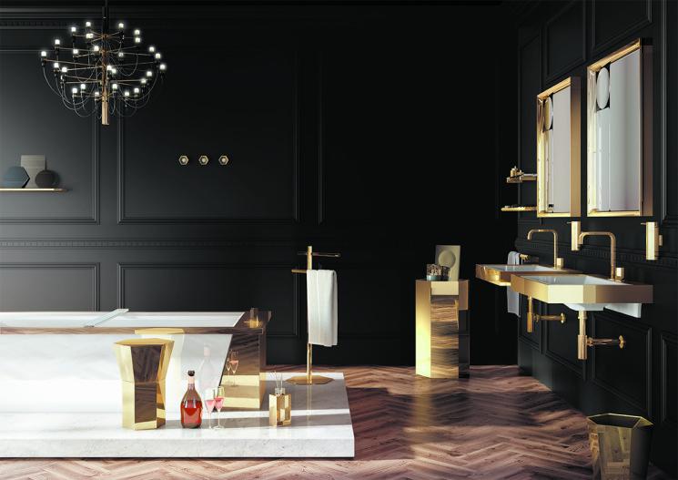 Ambienti esclusivi per il bagno disegnati da Eugeni Quitllet per la firma pomd'or Mirage