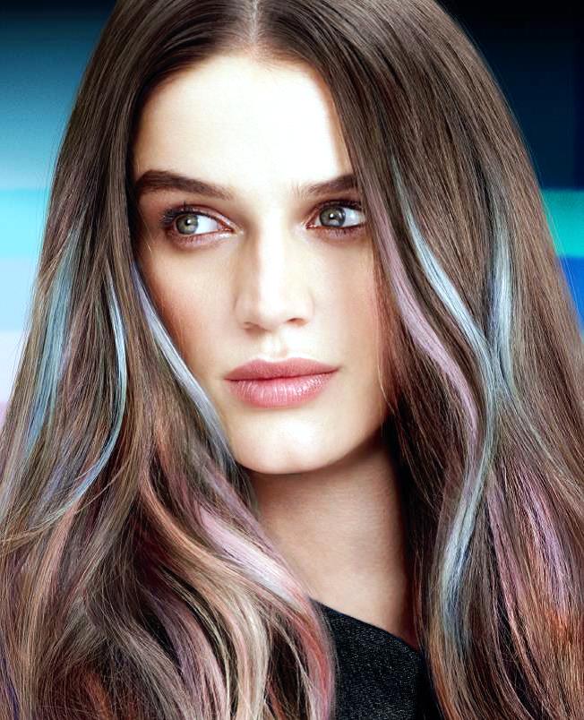 Matrix watercolors: arrivano i capelli color jeans
