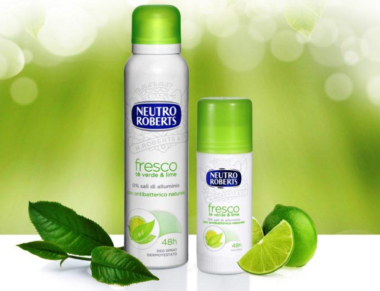Neutro Roberts: nuova linea Deodorante Fresco al Té Verde & Lime