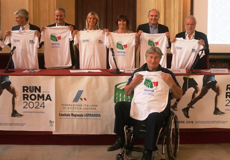 "Presentata a Milano la ""Run with Roma 2024"""