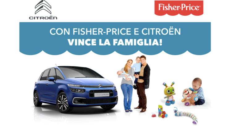 """Fisher-Price e Citroën insieme con il concorso """"Amici di Famiglia"""""""