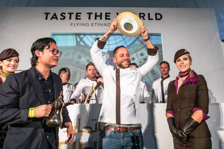 "Lo chef André Gerrits vincitore di ""Taste the World"" con Etihad Airways al ""Taste Of Abu Dhabi"""