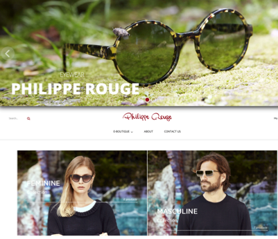 Nuovo sito per Philippe Rouge Eyewear