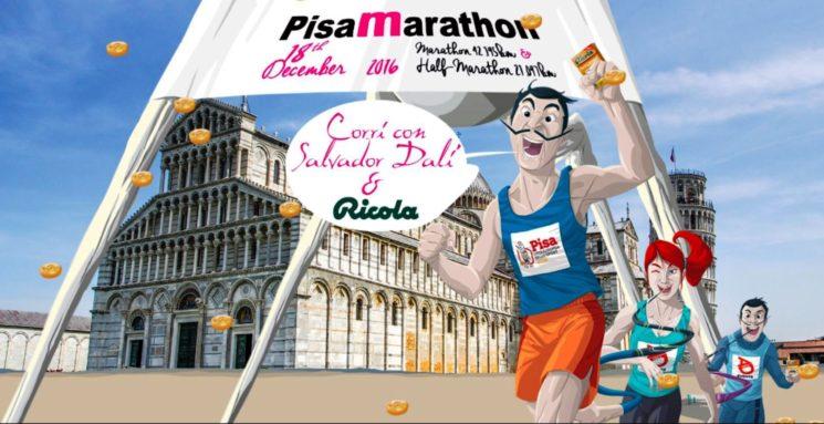 Domenica 18 dicembre la Maratona di Pisa 2016. Ricola nuovo sponsor