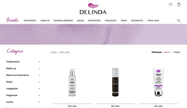 SkinLabo è online anche su Delinda