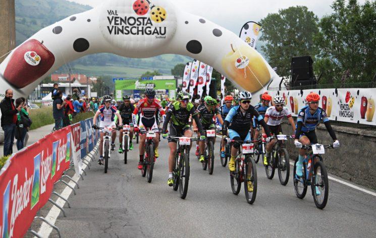 Il 3 giugno 3ª edizione di Ortler Bike Marathon. Sponsor: Mela Val Venosta