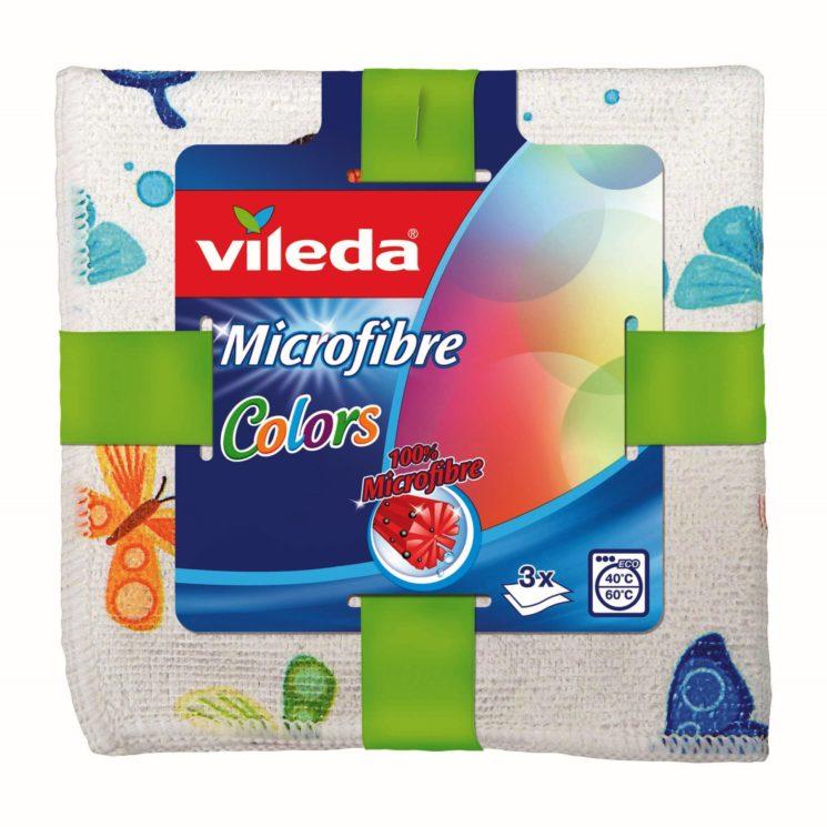 Nuovo panno Vileda Multiuso Microfibre Colors 3 pezzi, prodotto premium e di design