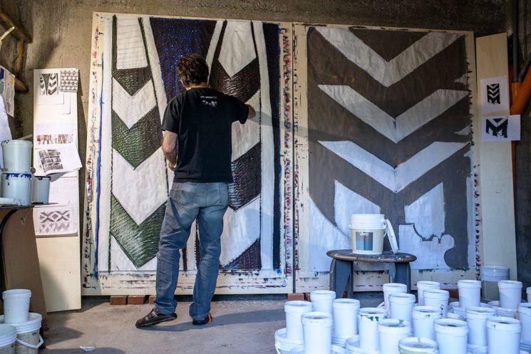 Cromology festeggia con una installazione i 50 anni di Viero Paints