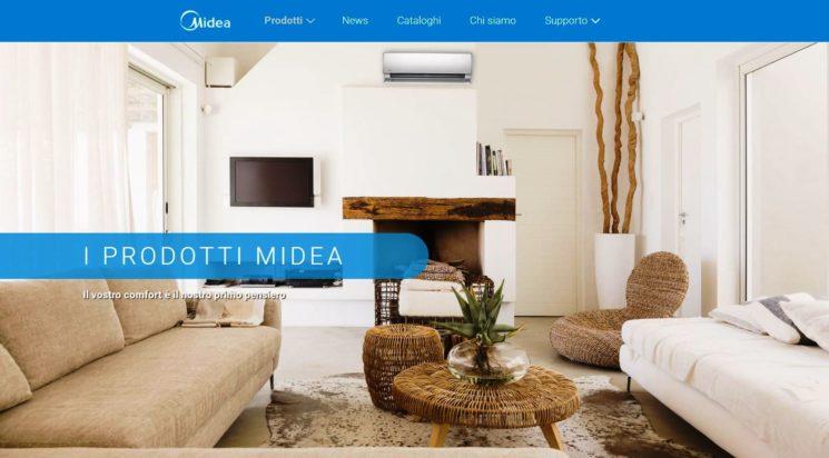 Nuovo sito per Midea