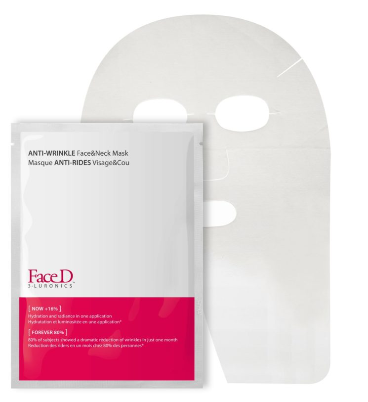 FaceD: Maschera Anti-Rughe Viso&Collo, una soluzione unica in 20 minuti
