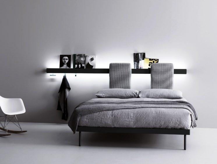 Caccaro: GROOVE, sistema letto dove la parete diventa una testiera multifunzione