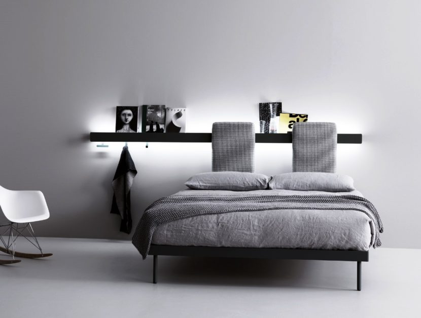 Caccaro groove sistema letto dove la parete diventa una for Parete testiera letto