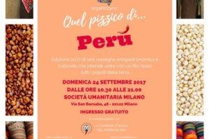 Il 24 settembre a Milano Quel pizzico di… Perù