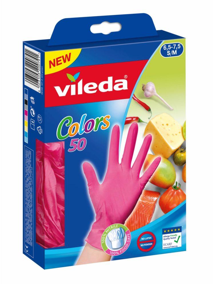 Vileda: nuovi Guanti Colors 50 per uso alimentare
