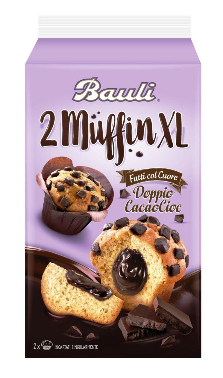 Muffin XL Doppio CacaoCioc e Triplo CacaoCioc, nuovi muffin Bauli american style