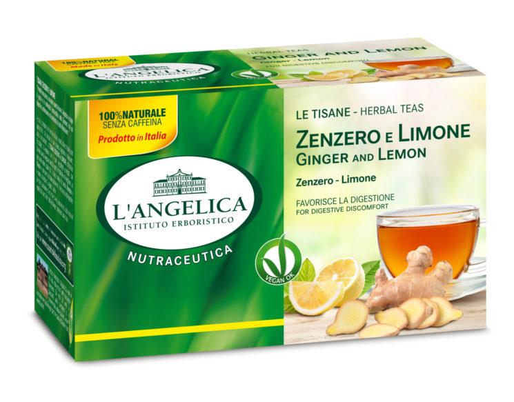 Per aiutare la digestione le Tisane allo zenzero L'Angelica, rilassanti e gustose
