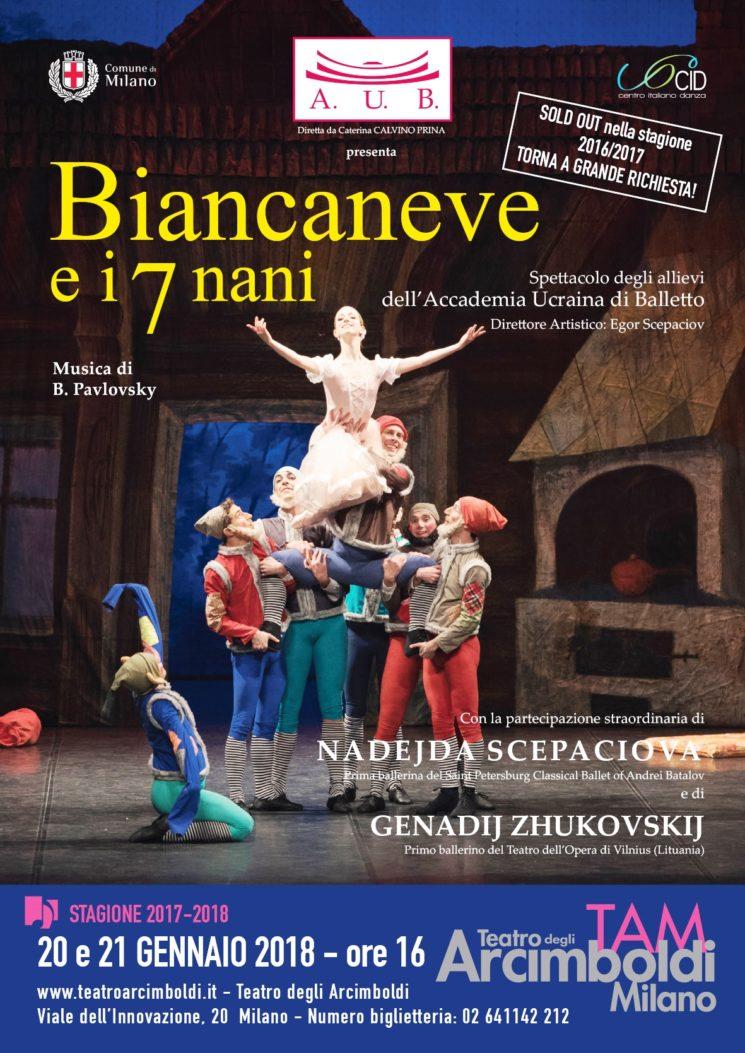 Accademia Ucraina di Balletto: BIANCANEVE E I 7 NANI al Teatro degli Arcimboldi di Milano, 20 e 21 gennaio 2018, ore 16.00