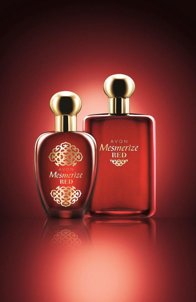 Le nuove fragranze Avon Mesmerize Red per lei e per lui