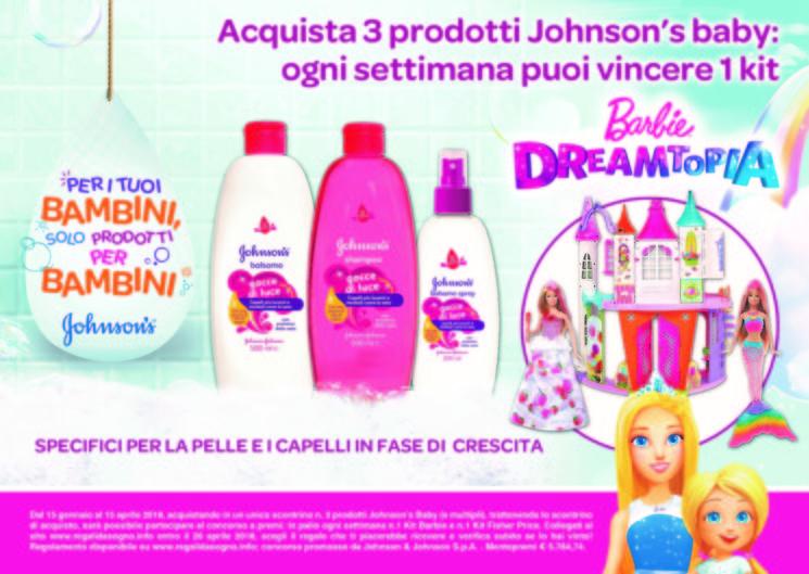 Vinci il magico mondo di Barbie con i prodotti Johnson's Baby