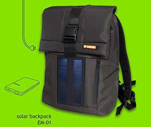 Zaino con pannello solare e powerbank di E-Mission.  Su Amazon.it