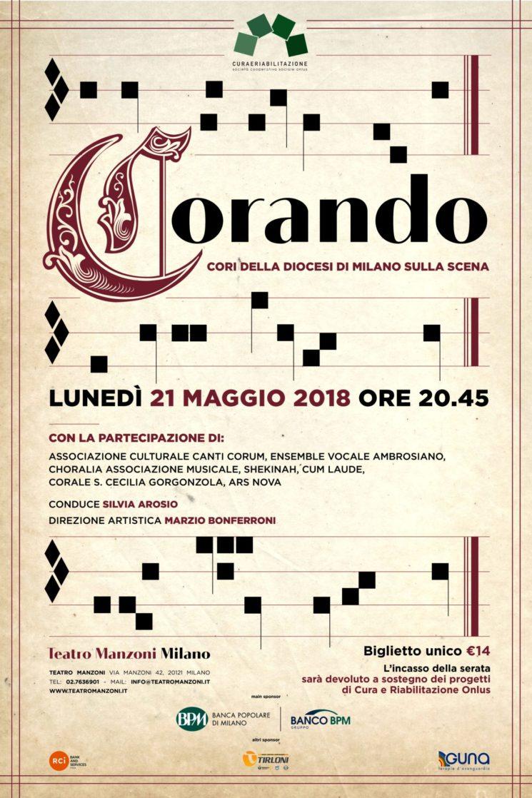 """""""CORANDO I cori con il cuore"""" al Teatro Manzoni di Milano"""