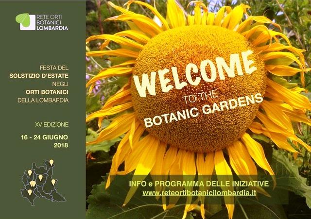 Solstizio d'estate negli Orti Botanici della Lombardia dal 16 al 24 giugno