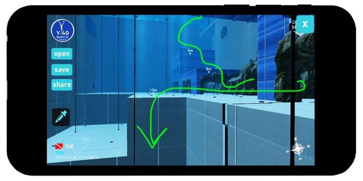 Y-40® Digital Dive: la piscina più profonda del mondo diventa virtuale nella app in cui simulare immersioni in 3D