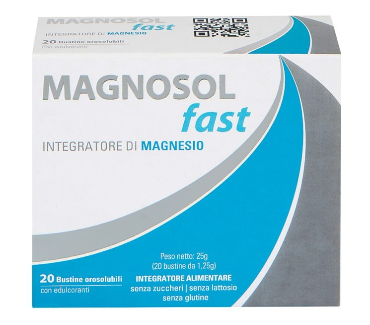 Magnosol Fast, integratore alimentare orosolubile a base di Magnesio