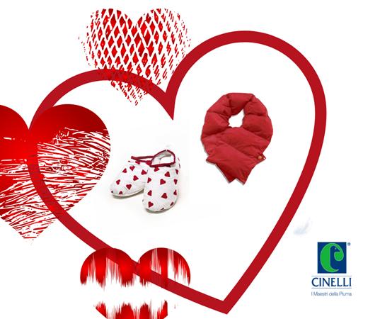 Cinelli Piume e Piumini per un regalo di San Valentino