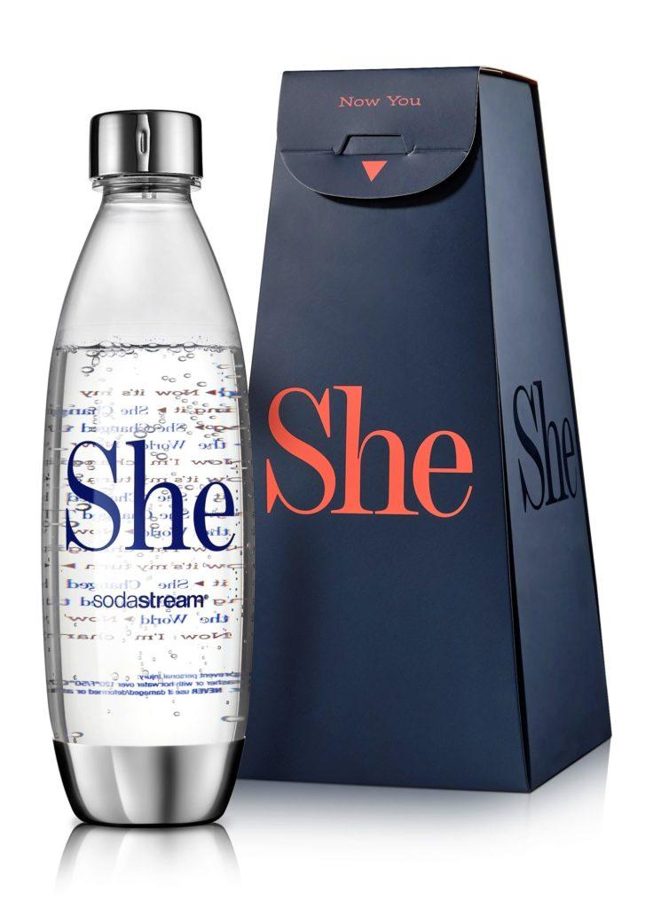 SodaStream: SHE, la bottiglia in edizione limitata per celebrare le grandi donne della storia