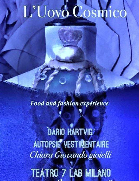 """Teatro7, Milano: presentazione di """"L'Uovo Cosmico"""" il 10 aprile 2019"""
