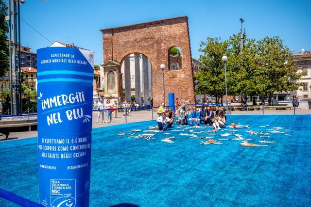 MSC Marine Stewardship Council porta il mare a Milano per il World Oceans Day