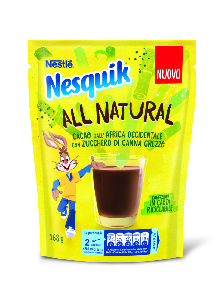 "Novità  Nestlé: Nesquik ""All Natural"""