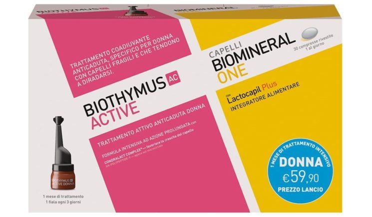 Biomineral + Biothymus, il kit IN&OUT che rinforza il ciclo vitale del capello
