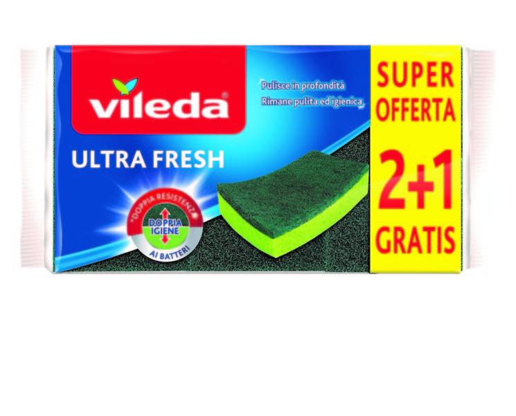 Vileda: Ultra Fresh 2+1 con doppio trattamento antibatterico