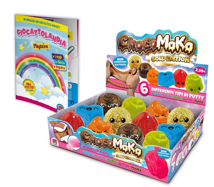 Choco Moko Gold Edition: i Putty Slime D-Kidz colorati e profumati