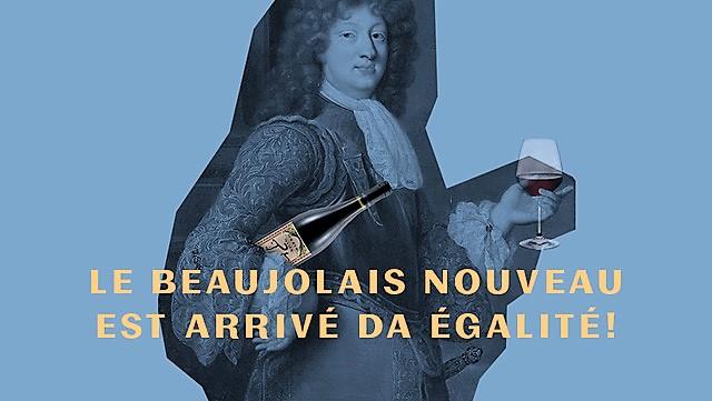 Le Beaujolais Nouveau est arrivé chez Égalité!