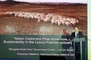 Saldarini Cashmere Flakes al Forum Mongolian Noble Fiber