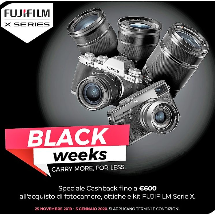 Fujifilm promozione black weeks cashback