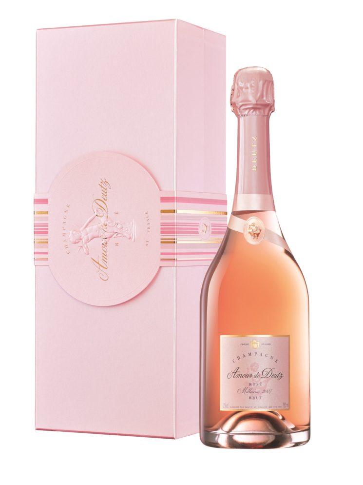 Champagne Amour de DEUTZ Rosé Millésimé 2009 per festeggiare l'arrivo del nuovo anno