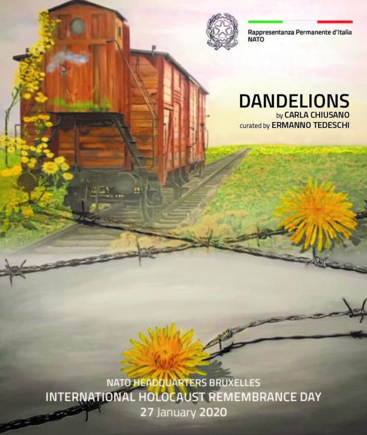 Dandelions, installazione di Carla Chiusano presso NATO Bruxelles