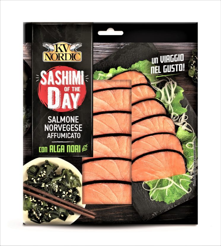 Kv Nordic: Sashimi of the Day con salmone norvegese affumicato