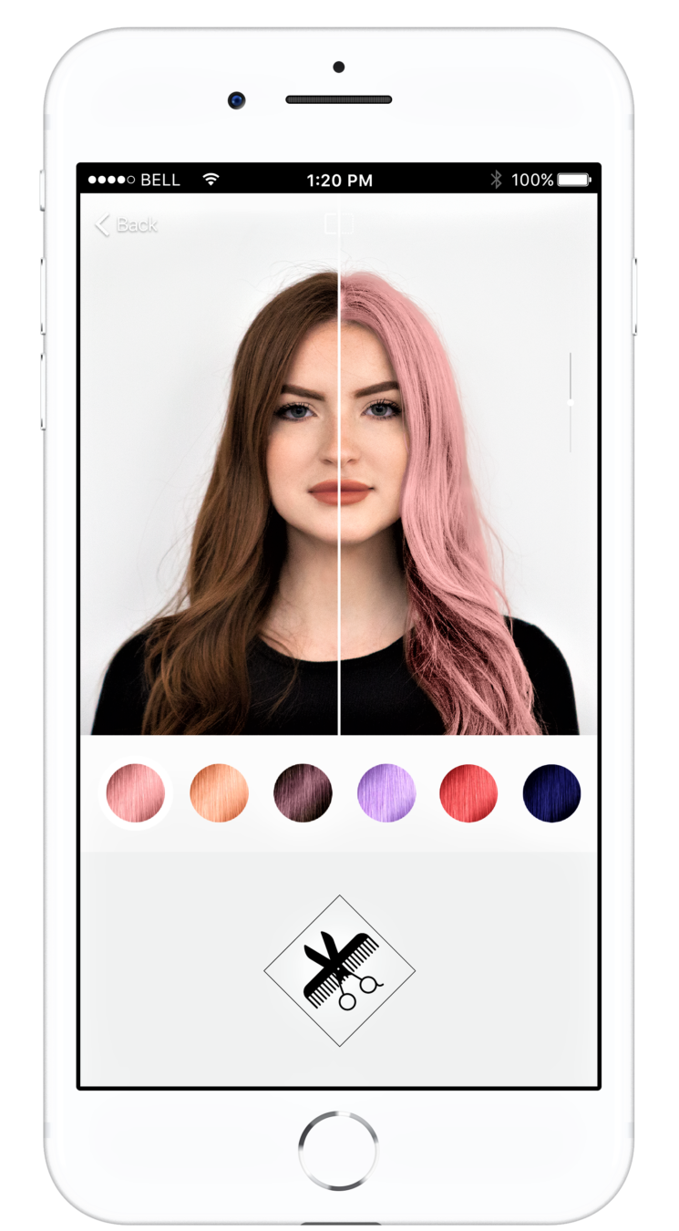 In attesa di tornare dal parrucchiere App Style My Hair Pro by L'Oréal Professionnel