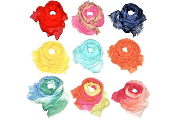 Da Gaynor Bongard sciarpe leggere multicolori