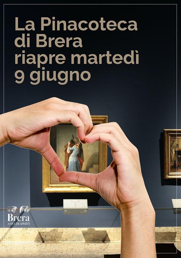 Pinacoteca di Brera: riapertura martedì 9 giugno